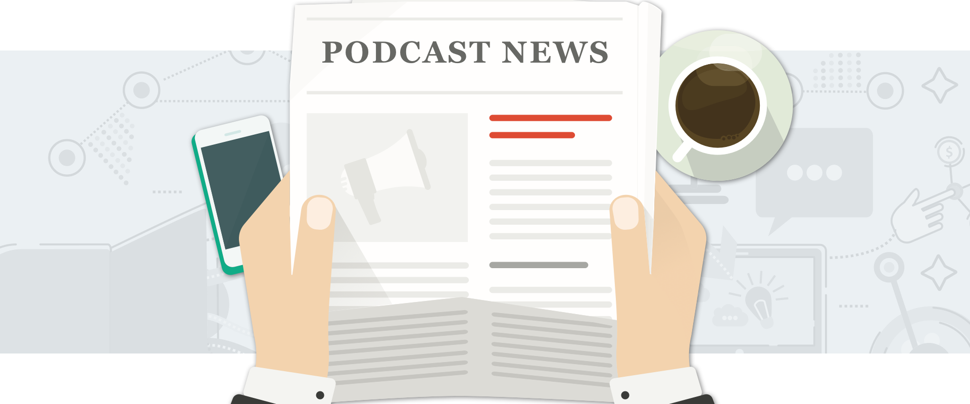 Traditional news interested in podcasting