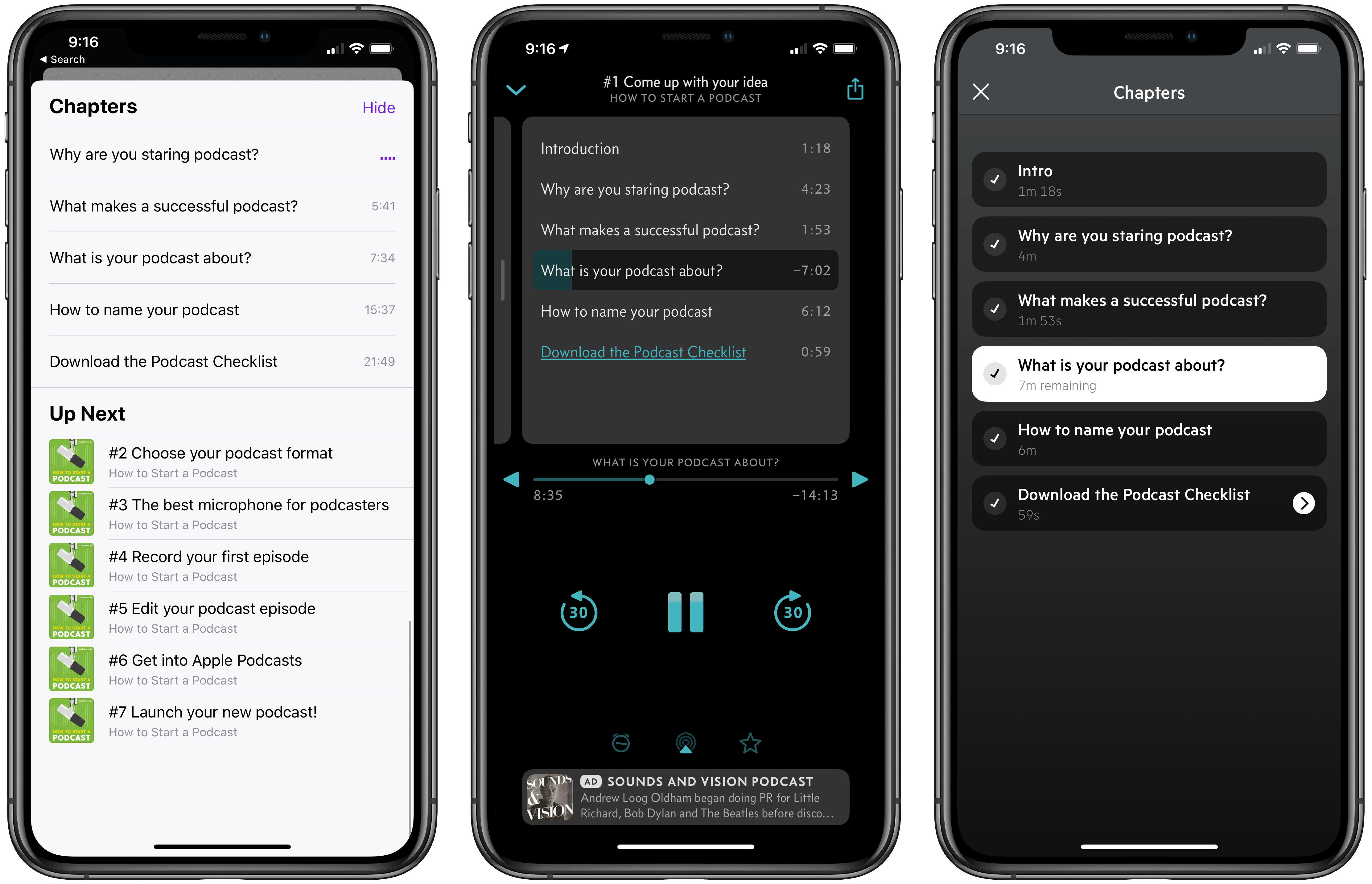 Chapter markers inside of different podcast apps
