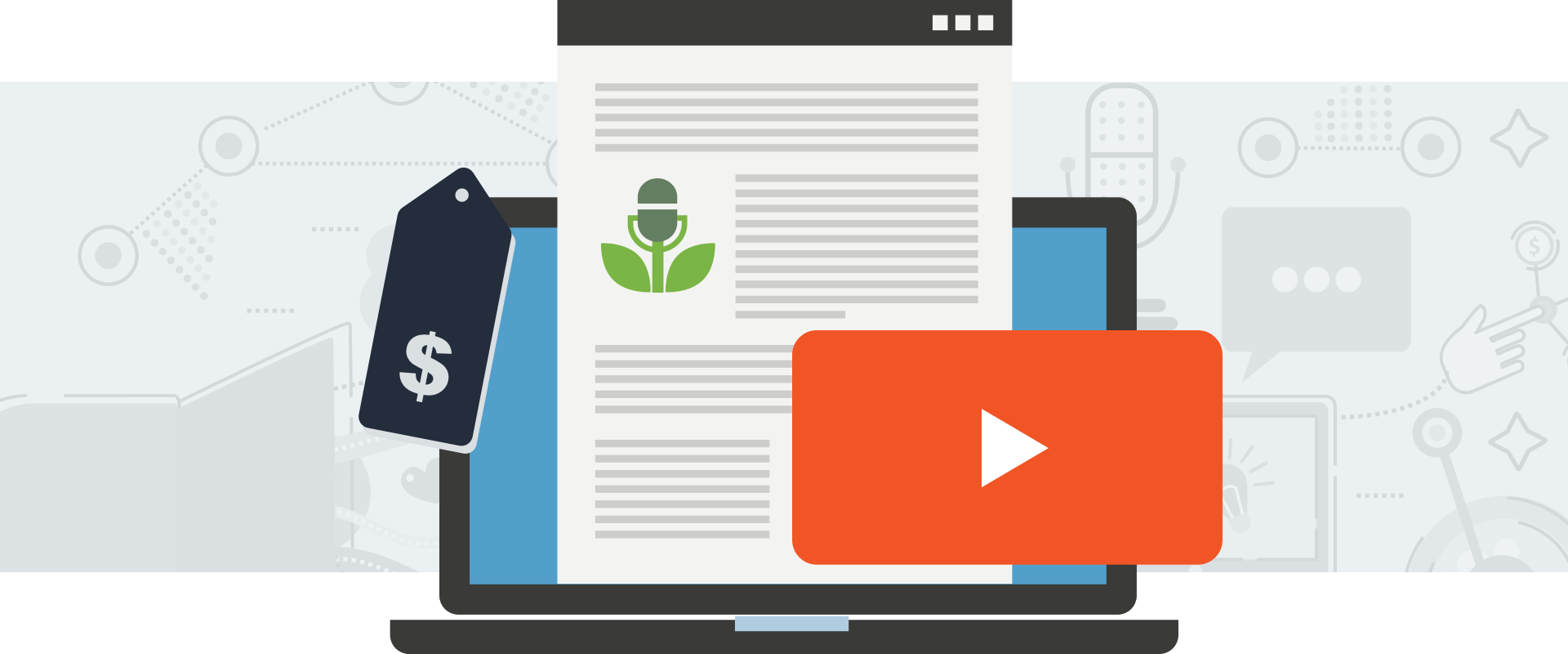 Blog posts, deals, and video content in Buzzsprout