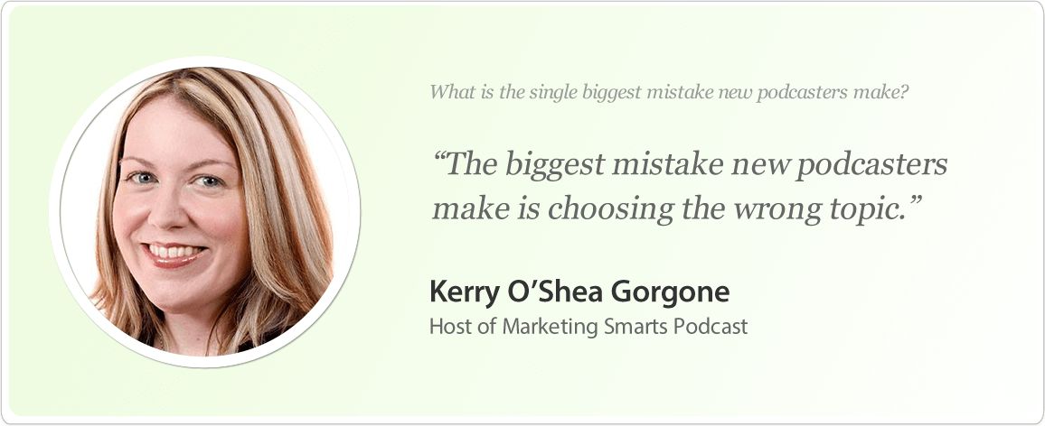 Kerry O'Shea Gorgone's image and podcast tips.