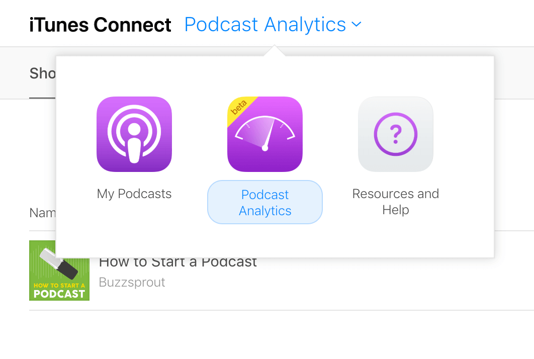 Podcast Analytics in beta