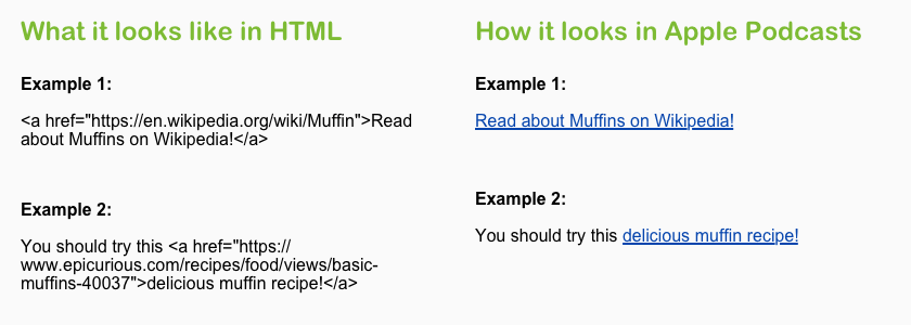 HTML link tags