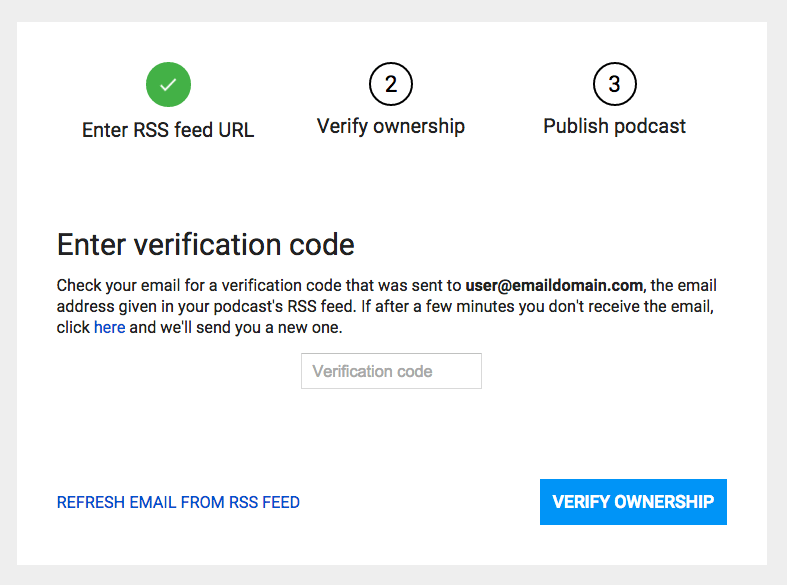 Verify ownership of RSS Feed